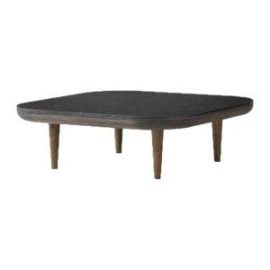 Træbord med marmorplade