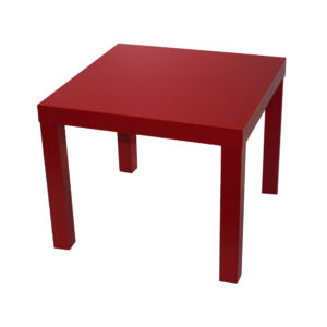 Rød sofabord