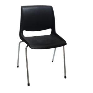 Alu. ben med plastik sæde
