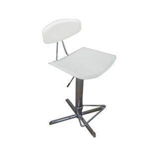 Hvid justerbar barstol