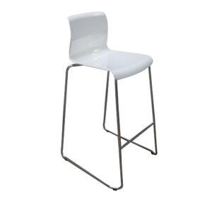 Hvid plastik sæde